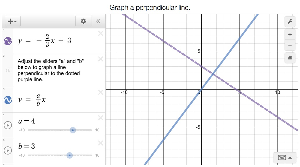 Here is Mason\u0027s solution to the last graphing challenge. Are his lines perpendicular? How can you check?